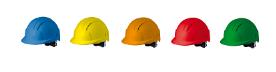 Coloris casque de chantier