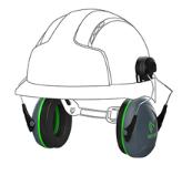Coquilles anti bruit pour casque de chantier