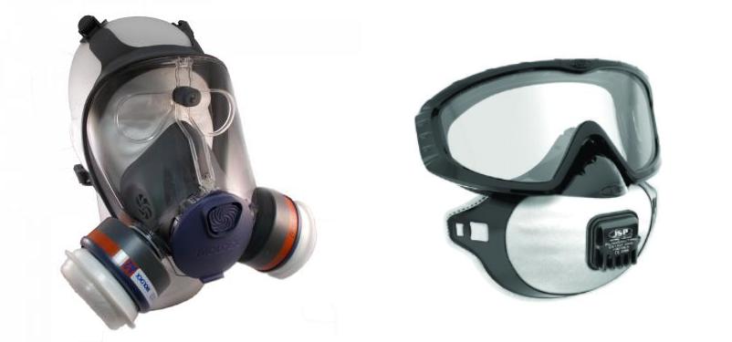 Masque protection respiratoire a la vue