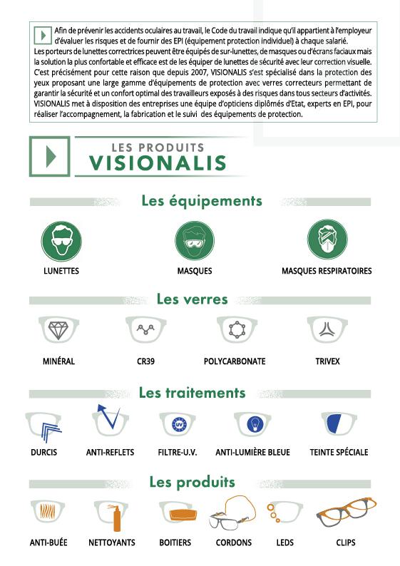Visionalis lunettes de protection a la vue